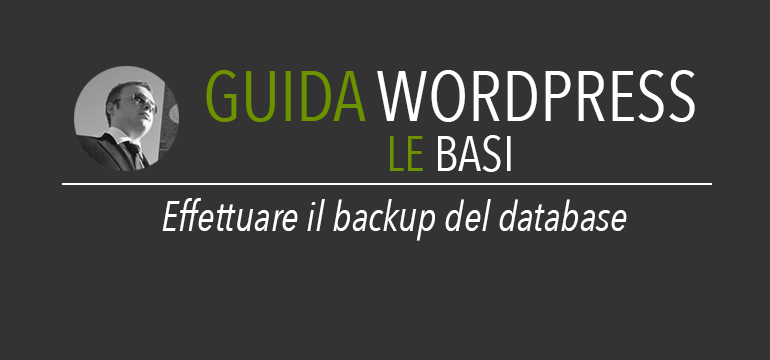 Backup del database di wordpress
