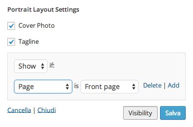 Visualizzare widget solo in alcune pagine wordpress