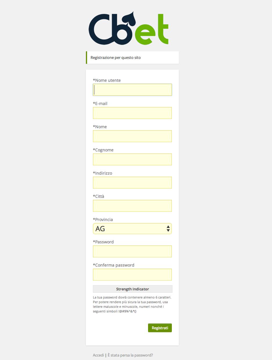 modulo di registrazione wordpress con campi addizzionali personalizzati