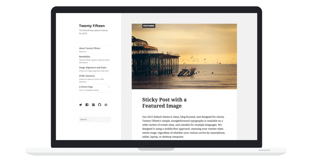 Wordpress 4.1 - Twenty fifteen
