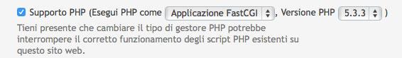 Guida W3 Total cache - Esegui PHP come FastCGI