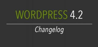 WordPress 4.2 Changelog: addio schermata di aggiornamento