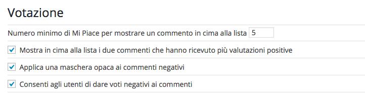 Plugin per commenti WordPress - De:comments  votare i commenti