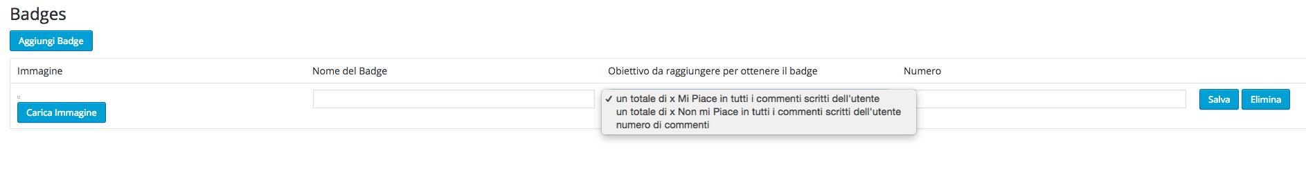 Plugin per commenti WordPress - De:comments  Badges