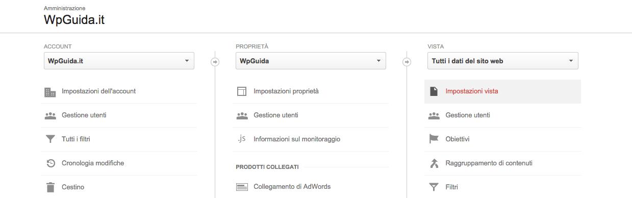 Monitoraggio delle query di ricerca interne con google analytics