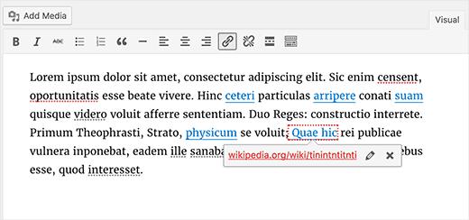 Wordpress 4.6 changelog: i link corrotti sono ora messi in risalto
