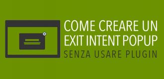 Come creare un exit popup senza plugin su wordpress